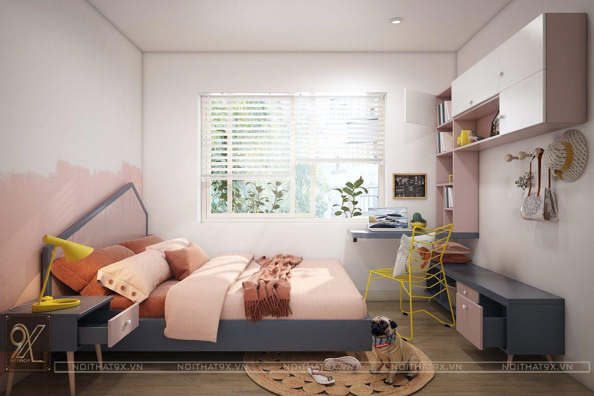 Nội thất phòng ngủ con view 1 - Chung cư An Bình City/Anh Hòa