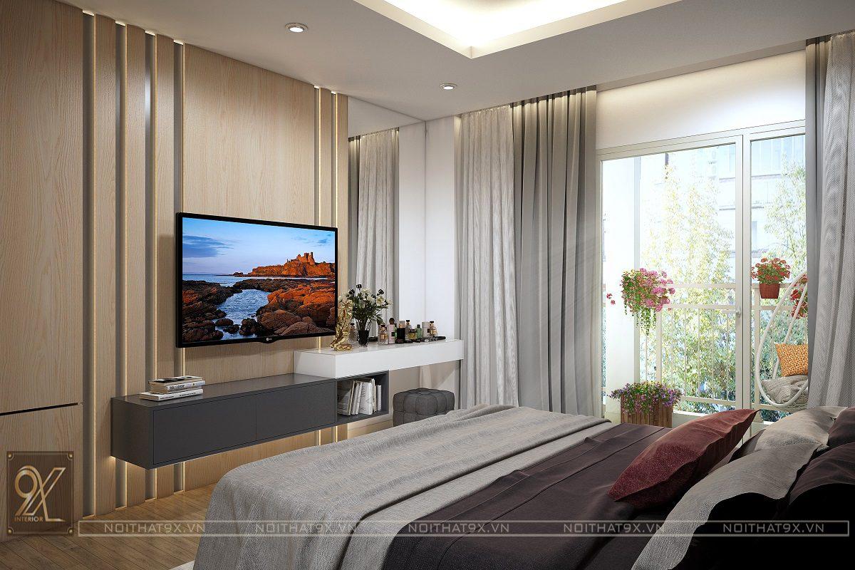 Nội thất phòng ngủ master view 2 - Chung cư An Bình City/Anh Hòa