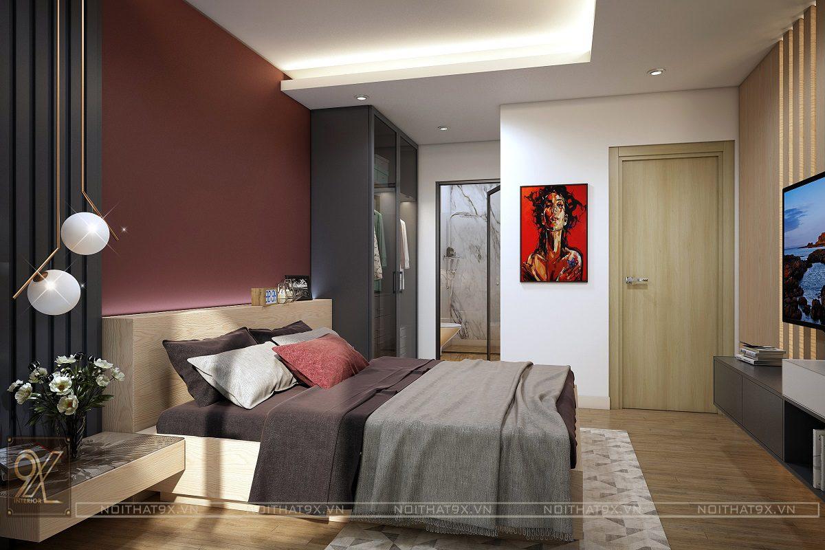 Nội thất phòng ngủ master view 4 - Chung cư An Bình City/Anh Hòa