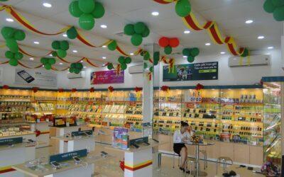 Thi công showroom điện thoại Viettel Store tại Vĩnh Phúc