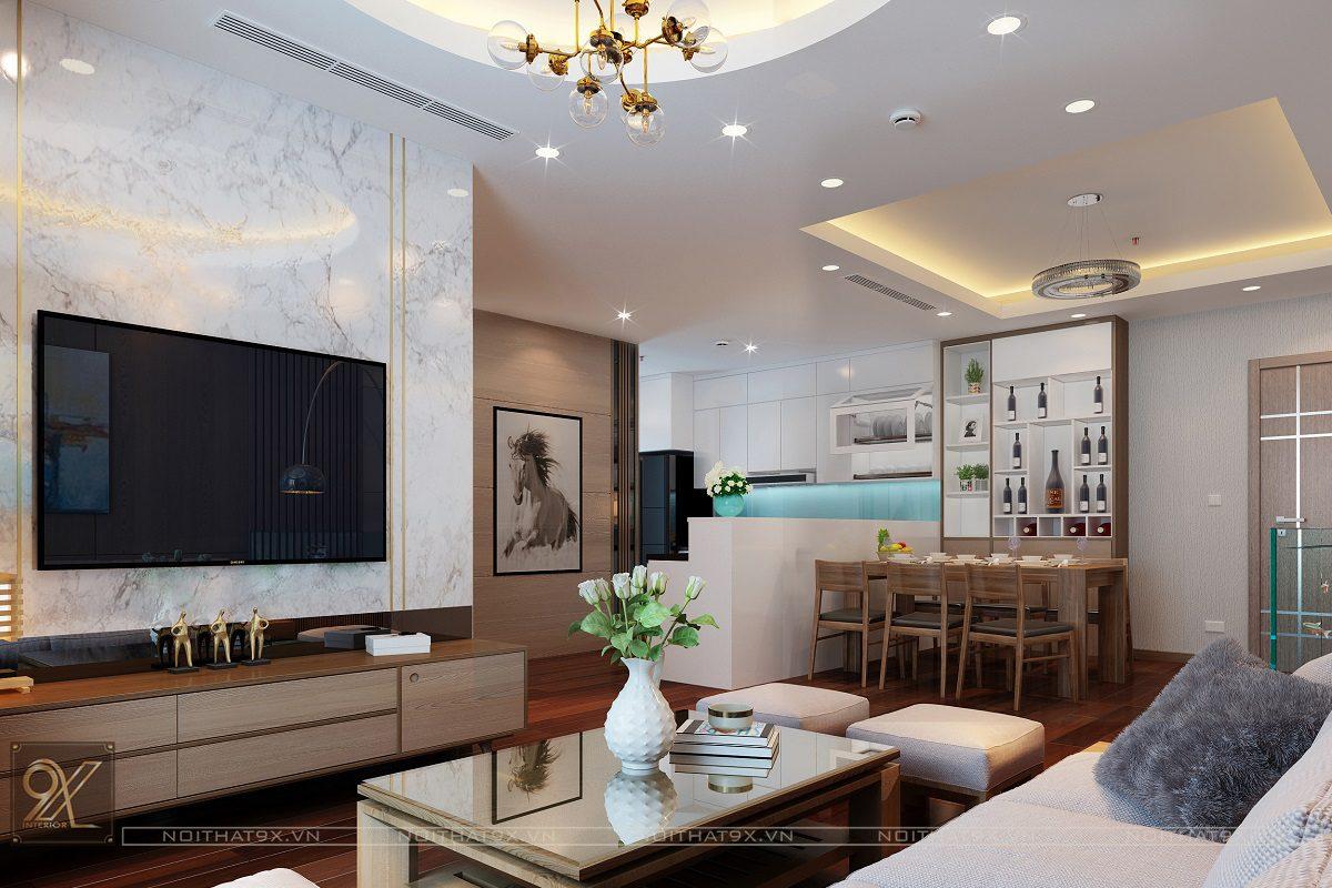 Mẫu thiết kế phòng khách chị Quỳnh HD Mon (Ảnh 2)