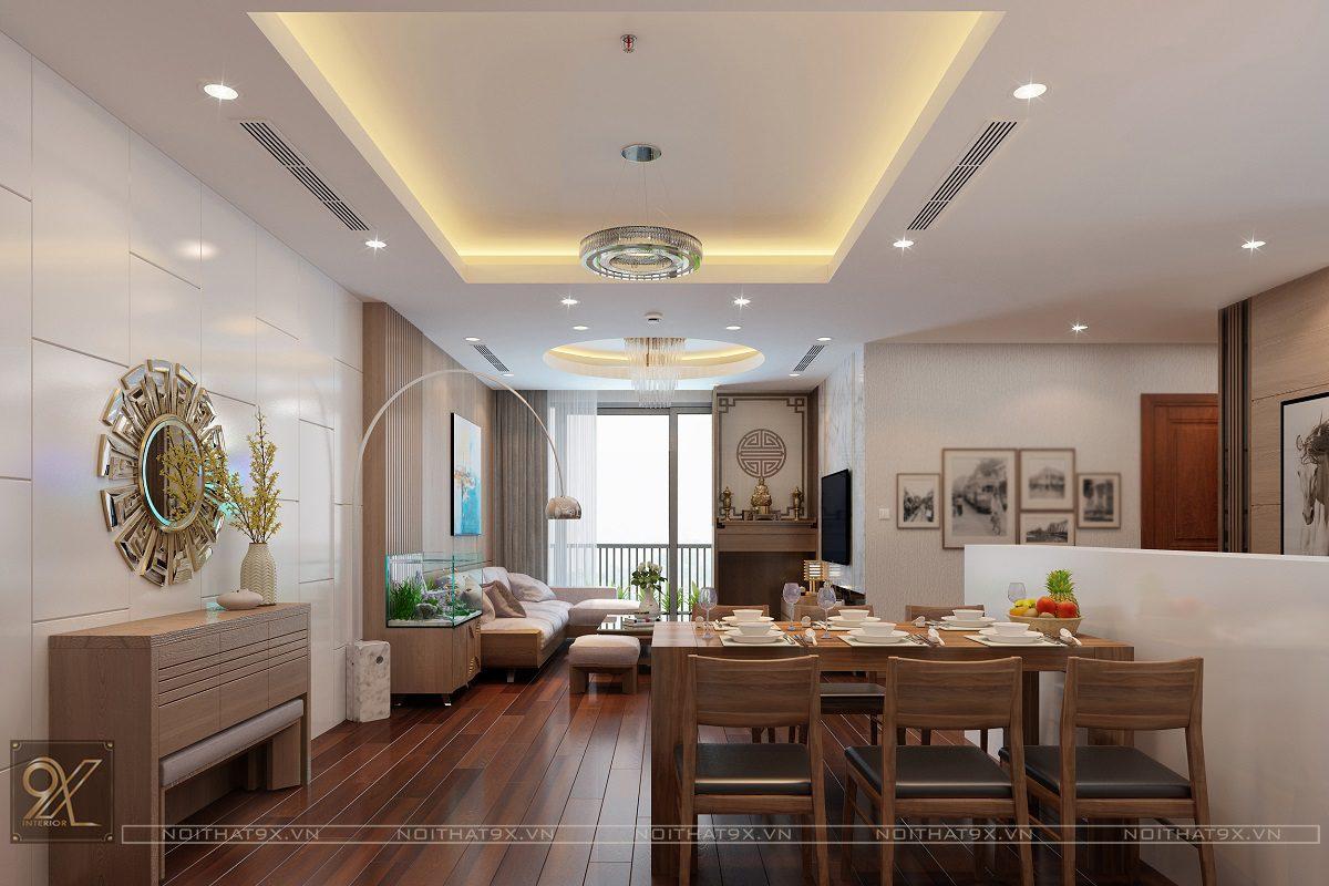 Mẫu thiết kế phòng khách chị Quỳnh HD Mon (Ảnh 1)