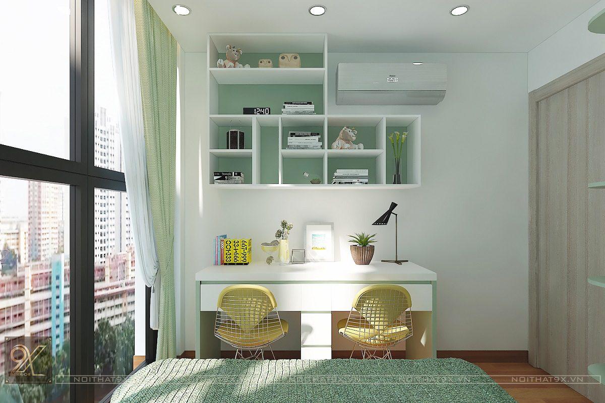 Thiết kế phòng ngủ con view 1 - Chung cư The Garden Hill/Anh Khoa