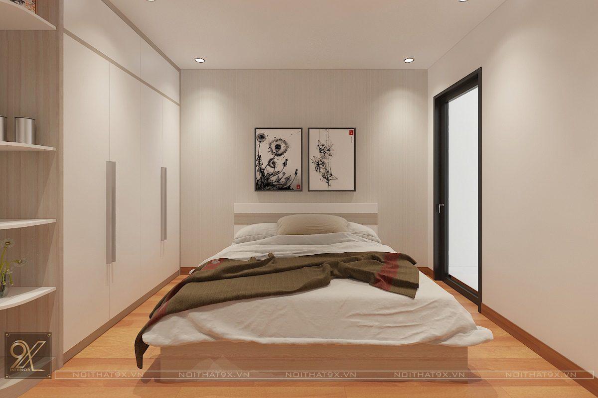 Thiết kế phòng ngủ master view 1 - Chung cư The Garden Hill/Anh Khoa