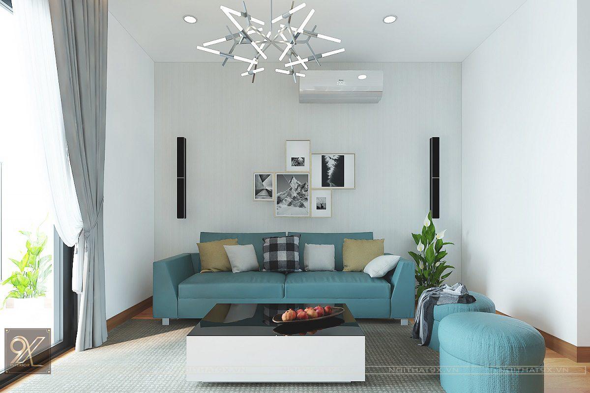 Thiết kế phòng khách view 1- Chung cư The Garden Hill/Anh Khoa