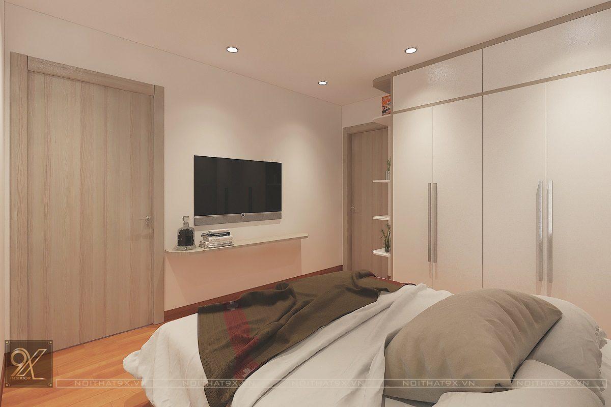 Thiết kế phòng ngủ master view 2 - Chung cư The Garden Hill/Anh Khoa