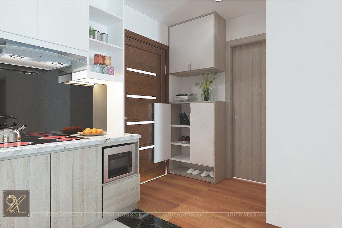 Thiết kế phòng bếp view 1 - Chung cư The Garden Hill/Anh Khoa
