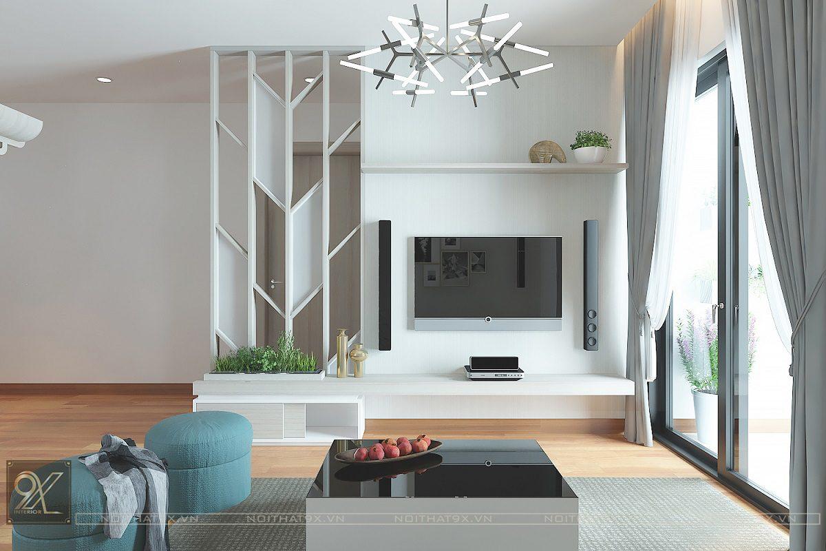 Thiết kế phòng khách view 2 - Chung cư The Garden Hill/Anh Khoa