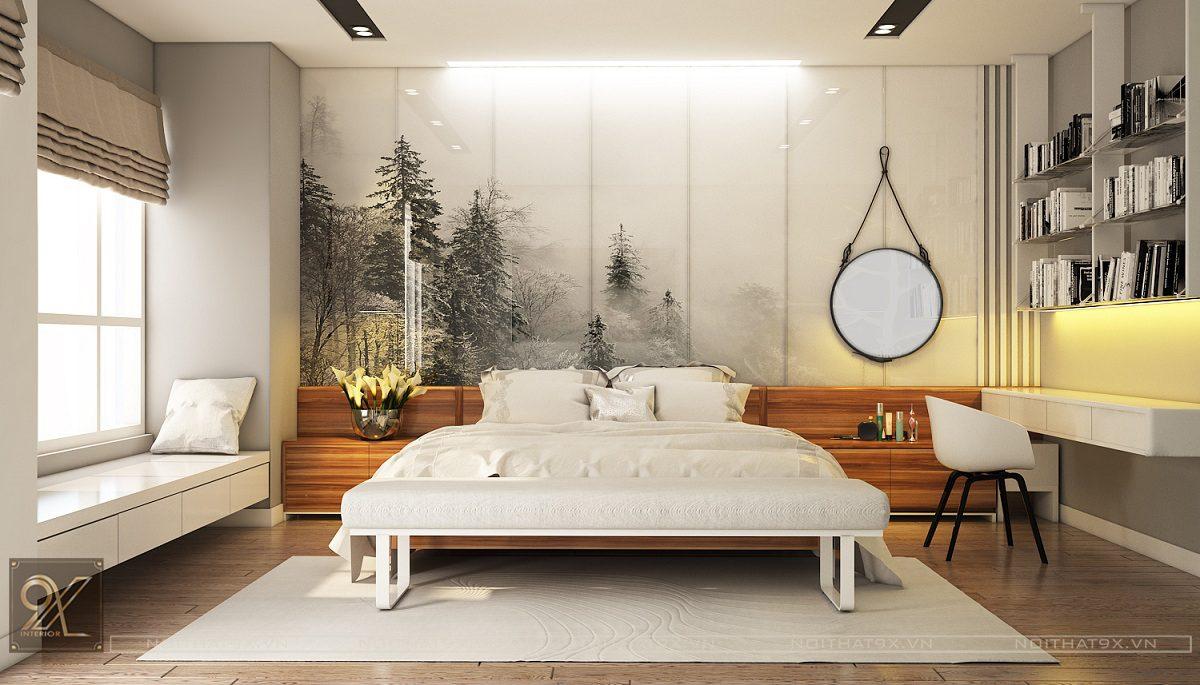 Thiết kế ngủ master view 1 - Chung cư Vinhomes Gardenia/Anh Chính