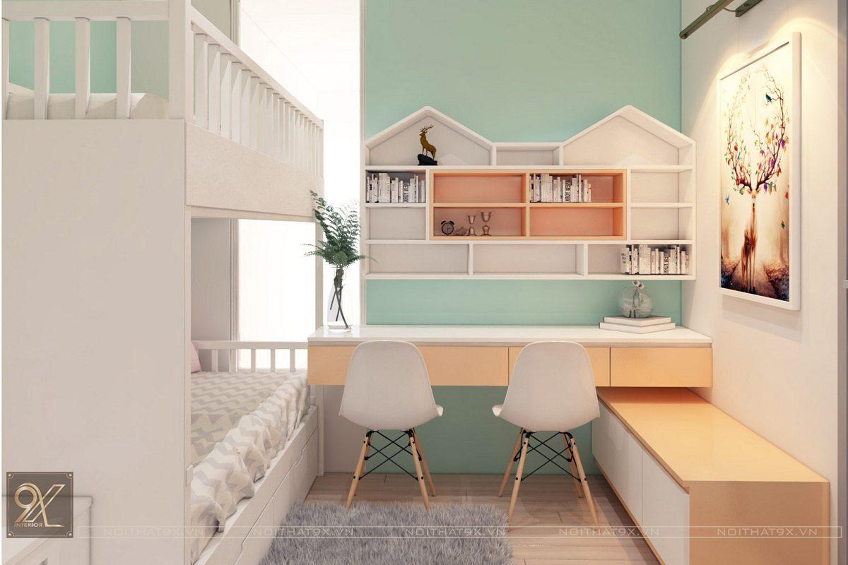 Thiết kế ngủ con view 3 - Chung cư Vinhomes Gardenia/Anh Chính