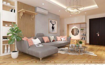 Thiết kế nội thất phòng khách anh Hiếu – Chung cư Vũ Phạm Hàm