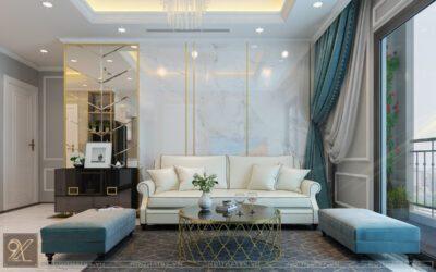Thiết kế phòng khách chung cư Mandarin Garden – anh Bình