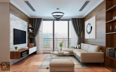 Thiết kế nội thất phòng khách cô Thanh – Vinhome Gardenia